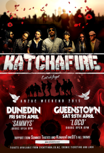 Katchafire Lest Us Forget Tour