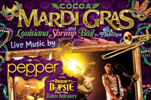 Cocoa Mardi Gras and Louisiana Shrimp Boil featuring Pepper