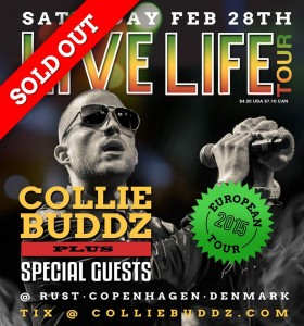 Collie Buddz Live Life European Tour